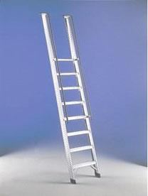 escaleras de acceso portatil de aluminio peldaño ancho