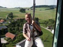 SV-Projektleiter Manfred Gabriel - höhentauglich