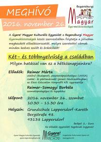 magyar iskola regensburg, meghívó