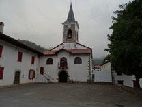 La chapelle d'OTSANTZ depuis la Croix des Anglais