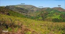 Le col de l'Ane depuis Bidarray