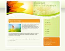 Webseite Diana Babl - Praxis für Kinesiologie