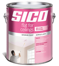 SICO FLAT FOR CEILINGS PAINT WITH PINK DYE