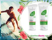 Un gel doux qui contient 60 % de gel pur d'Aloe vera et des anti-inflammatoires et antalgiques d'origines biologique Aloe vera sante beaute LR Health & Beauty