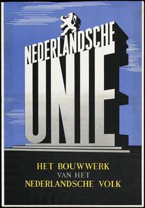 Een propagandaposter van de Nederlandsche Unie