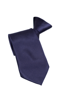 Een marineblauwe en viscose stropdas met een koordstopper.