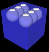 Modellierung 3D Spielwürfel mit Augen als Kugeln