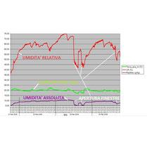 grafico temperatura - umidità