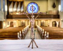 Ehrenamtlich geleitete Projektgemeinde St. Barbara Duisburg Röttgersbach Gemeindesäule Liturgia