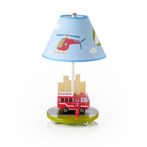 kids, lamps, boys, girls, nursery, bedroom, firetruck