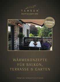 Tansun Prospekt für den Einsatz auf der Terrasse Balkon oder Garten