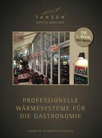 Tansun Prospekt Heizstrahler für die Gastronomie und Hotellerie