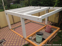 Unterbau Gestell Stelzenhaus selbst bauen Holzhaus mit Terasse