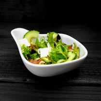 Genuss Hütte, Frischer Salat mit leckeren Dressing