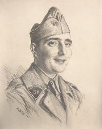 Henri Caraud son beau frére 1940