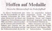 Wuppertaler Rundschau Vorbericht vom 24.11.2007 DM