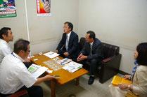 JA鳥取中央栗原専務、上本参事と懇談