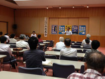 鳥取市の決起集会で訴える候補者