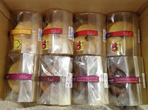 上段:シフォン(林檎3.ゆず1.紅茶1.チョコ1)ガトーショコラ2