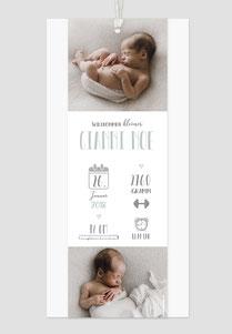Geburtsanzeige mit Anhänger