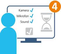 Medizinische Videoberatung von 4sigma: Systemcheck