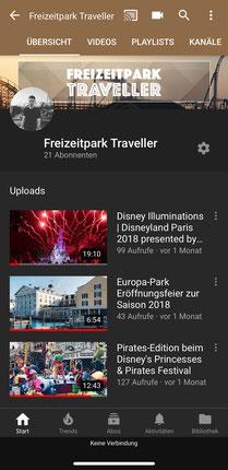 Freizeitpark Traveller auf YouTube