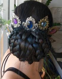 Anleitung Gibson Braids mit Victorian Haarkämmen für Gothic und Fantasy Cosplays
