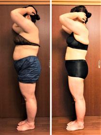 40代主婦 DNAパーソナル痩身3ヶ月コース 2か月経過の写真
