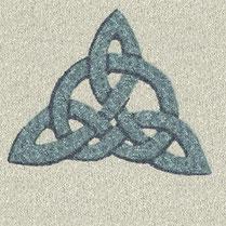 Gartenmalerei.de  - Kunst für den Garten Zeichen der Kelten, Keltischer Knoten aus farbigem Splitt - keltisches Symbol, Marmorsplitt, Granitsplitt, Quarzsplitt, Basaltsplitt, Kies