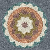Gartenmalerei.de  - Kunst für den Garten, Bilder, Mandalas, Symbole, Zeichen, Logos - Kunst in den Garten, aus farbenfrohem Natursteinsplitt, buntem Basaltsplitt, Granitsplitt, farbig statt moosgrün