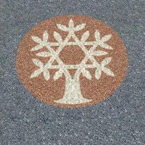 Gartenmalerei.de  - Kunst für den Garten, Bilder, Mandalas, Symbole, Zeichen, Logos - Bilder in den Garten, aus Carrara Marmorsplitt, bunter Granitsplitt, Basaltsplitt,  Alternative zu Wiesengrün