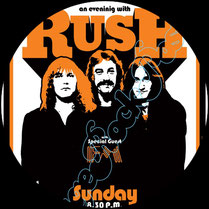 rush poster, rush, neil peart, geddy lee, alex lifeson, john rutsey, lindy young, jeff jones, gerry fielding, mitchell bossi, joe perna, progressive rock