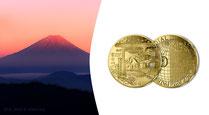 Gedenkmünzen  Euro Gold Frankreich Monnaie de Paris 2020 Goldmünzen Sammlermünzen Gold kaufen Unesco Die Drei Bergen Mont Fuji Mount Fuji Adelshaus