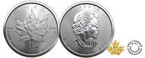 Silber kaufen: Maple Leaf Silbermünze 1 Unze - jetz günstig bei Adelshaus erwerben