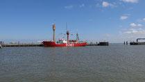 """Feuerschiff """"Elbe 1"""" im Cuxhavener Hafen"""