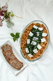 Green Couscous mit Tofu