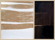 entre l'ombre et la lumière, collages par Annie Baratz artiste peintre plasticienne