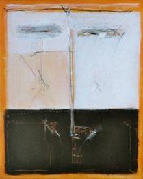 MEDITATIONSGESICHT, Acryl auf Leinwand, 80 x 100 cm, 2004