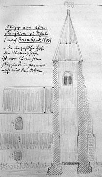Der ursprüngliche Turm