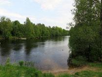 Красивый участок на берегу озера Судаковское