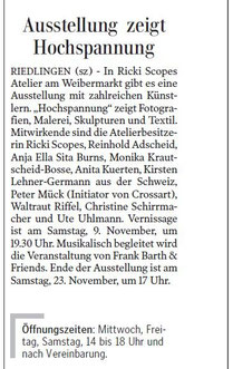 Schwäbische Zeitung 07.11.13