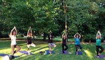 Cours de Yoga dans la nature par Murielle LEROY