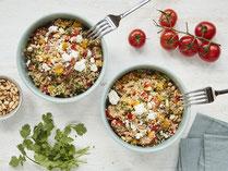 Geprüfte IN FORM-Rezepte, IN FORM, gesunde Rezepte, gesunde Ernährung, gesundes Essen, gesund essen, gesund abnehmen, abnehmen, gesund kochen, DGE, Deutsche Gesellschaft für Ernährung, Quinoa, Salat, Quinoa-Salat, Quinoasalat, vegetarischer Salat