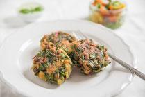 IN FORM, Geprüfte IN FORM-Rezepte, gesundes Rezept, gesunde Ernährung, gesundes Essen, gesund essen, vegan, veganes Rezept, veganes Hauptgericht, Bratlinge, vegange Bratlinge, veganes Mittagessen, veganes Abendessen, vegan kochen, Kochrezept