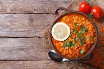 Geprüfte IN FORM-Rezepte, IN FORM, gesunde Rezepte, gesunde Ernährung, gesundes Essen, gesund essen, gesund abnehmen, abnehmen, gesund kochen, DGE, Deutsche Gesellschaft für Ernährung, Rezept, Kochrezept, kochen, vegetarische Linsensuppe, Linsensuppe