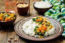 IN FORM, Rezepte, gesund, Reis, Spinat, Süßkartoffeln, Eintopf, Mahlzeit, Mittagessen, Abendessen, gesunde Rezepte, gesunde Ernährung