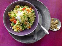 IN FORM, Rezepte, gesund, Indische Küche, Reis, Safran, Safranreis, Gemüse, Cashewkerne, Cashews, vegan, veganes Essen, vegane Rezepte, veganes Rezept, Gesunde Rezepte, Gesunde Ernährung
