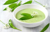 IN FORM, Geprüfte IN FORM-Rezepte, Rezept, Kochrezept, Suppe, Suppenrezept, Bärlauch, Bärlauchsuppe, Cremesuppe, Bärlauchcremesuppe, Vorspeise, Vorspeisensuppe, gesunde Ernährung, gesundes Essen, gesund essen, gesunde Rezepte