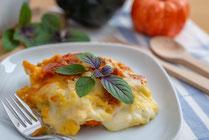 Rezept, IN FORM, gesund, Kürbis, Herbst, Hänchen, Lasagne