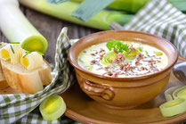 IN FORM, Rezepte, gesund, Lauch, Hack, Suppe, Käse, Lauch-Hack-Suppe, Lauch-Hack-Suppe mit Käse, gesunde Rezepte, gesunde Ernährung, Cremesuppe